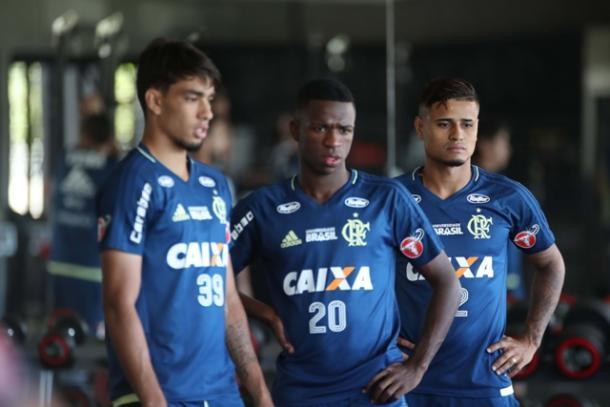Paquetá e VJr têm tido boas oportunidades desde a chegada de Rueda | Foto: Gilvan de Souza/Flamengo
