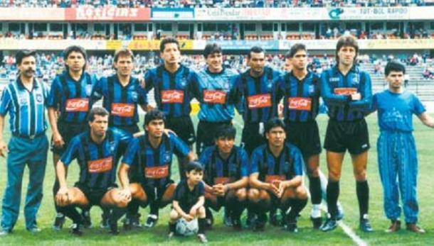 Querétaro F.C. debutando en Primera División en la temporada 90-91 / Foto: juanfutbol