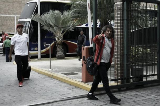 Junior de Barranquilla en su llegada a Valencia / Foto: El Heraldo