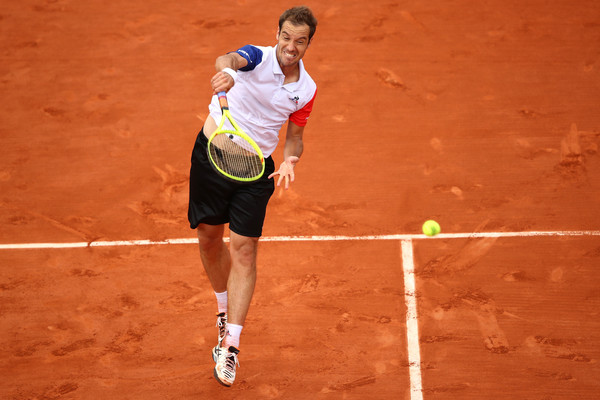 Richard Gasquet in his second round match against Bjorn Fratangelo (Clive Brunskill/Getty Images)