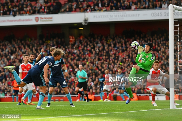 Gaston Ramirez spurnes Middlesbroughs best chance v Arsenal | Photo: Getty Images/
