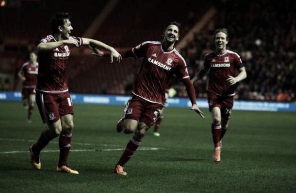 Ramirez celebrates his goal (photo: middlesbrough.com)