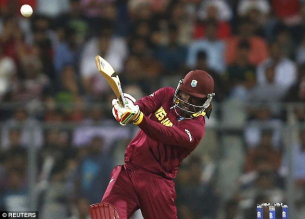 Gayle in action (photo: Reuters)