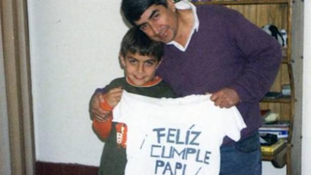 Paulo con il papà Adolfo | Foto via Gazzetta.it