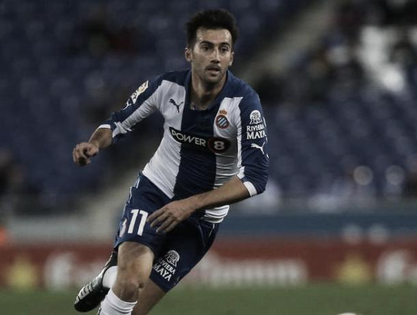 Lanzarote, jugando con el Espanyol | Foto: Pep Morata - Mundo Deportivo