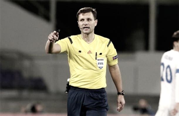 Gediminas árbitro del partido de hoy/ Foto: Página de la UEFA