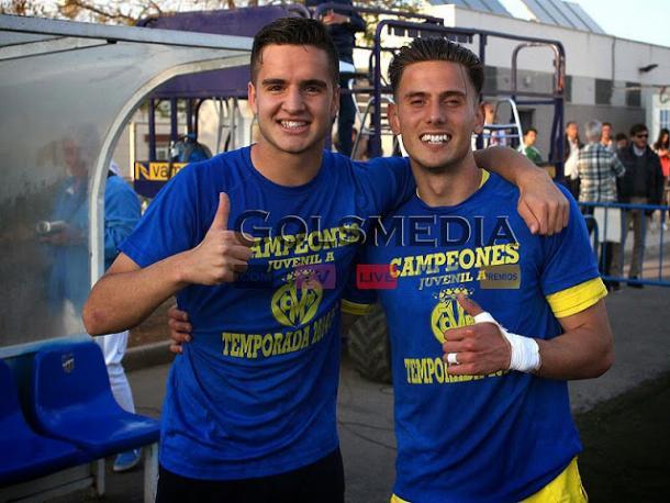 Genís y Maxi celebrando el título de liga | Foto: Gols Media