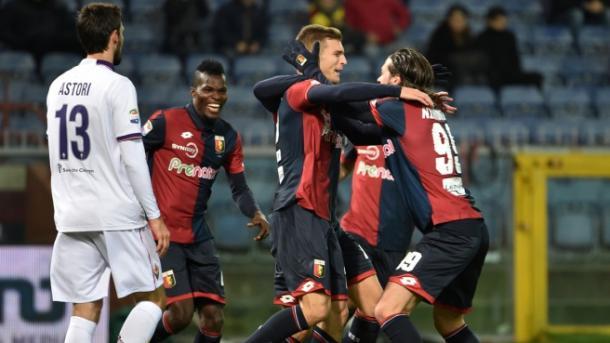 Goal ed esultanza per Lazovic contro la Fiorentina | Foto: sportal.it