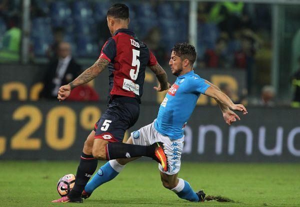 Izzo e Mertens in azione in Genoa - Napoli 0-0 - Fonte: sportal.it