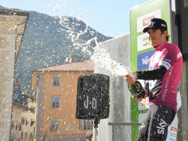 Thomas sumó su sexto trofeo a lo largo de su carrera en la ruta |Fuente: Tour of the Alps