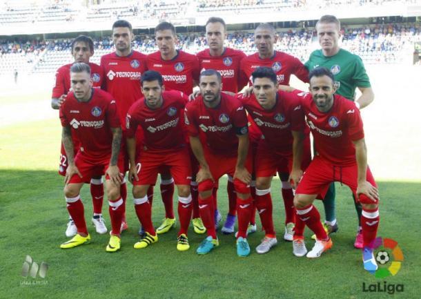 Once del Getafe CF en Tenerife.   Fuente: La Liga