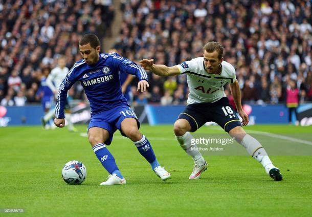 Hazard vs Kane en un clásico entre Chelsea y Tottenham | Foto: Getty Images