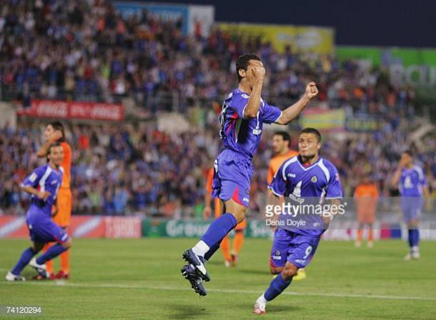 Javier Casquero anotando el gol que comenzó la remontada ante el Barcelona en semifinales de Copa del Rey | Fuente: gettyimages