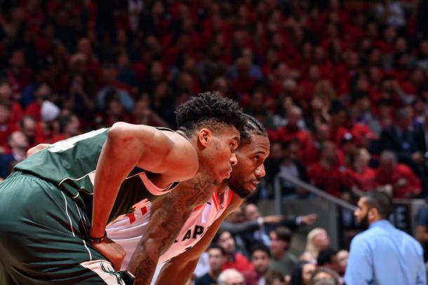 Giannis vs Kawhi, duelo de MVP´S. Foto: NBA