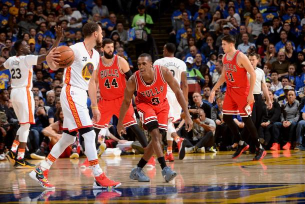 Los Warriors dominaron a los Bulls en el Oracle. | Foto: Noah Graham