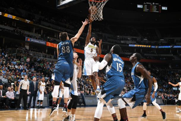 Will Barton attempts a shot for Denver Nuggets l Photo: Garett Ellwood - Getty Images