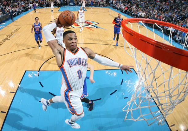 Russell Westbrook. Layne Murdoch/NBAE via Getty Images