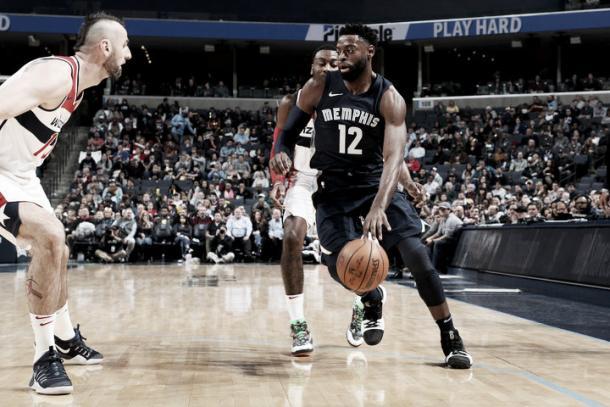 Evans entrando a canasta, el pasado día 5, contra los Wizards (NBA.com)