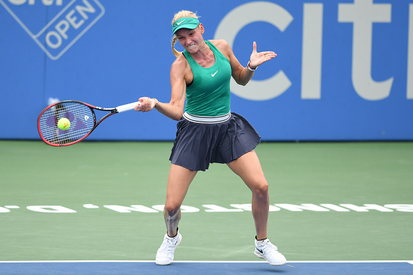 Donna Vekic's forehands were firing on all cylinders in the first half of the match | Photo: Mitchell Layton / Getty Images
