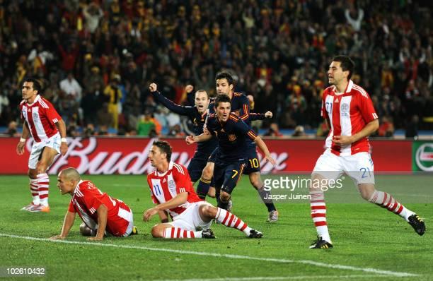 Villa y su gol clave para el pase de España a semifinales / Foto: Gettyimages
