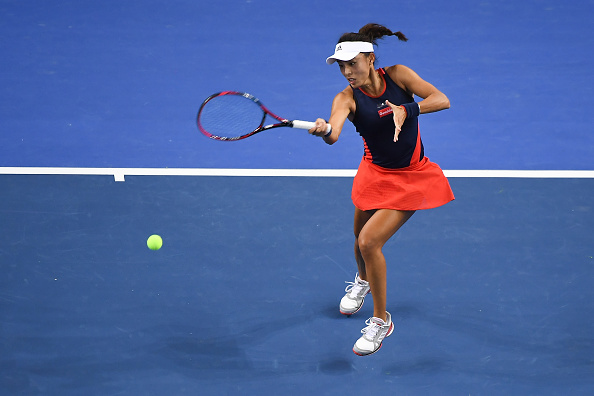 Wang Qiang failed to capitalize on her chances early on | Photo: Zhe Ji / Getty Images