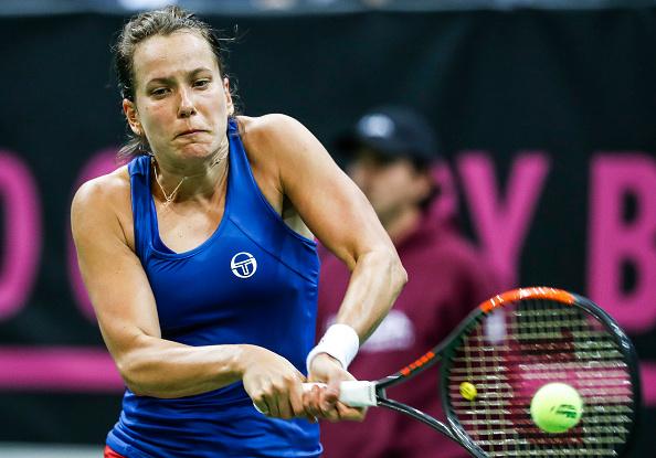 Barbora Strycova saved break points in three different games to take the second set 6-1 | Photo: Srdjan Stevanovic / Getty