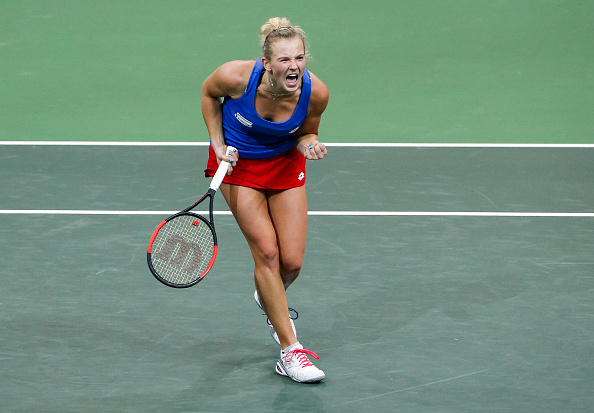 It was a fantastic performance from Katerina Siniakova, who stepped up her game at the right time | Photo: Srdjan Stevanovic / Getty