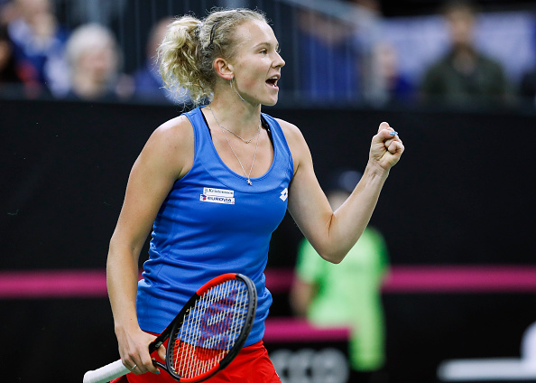 Katerina Siniakova jumped out to a huge lead in the decider but was pegged back once again | Photo: Srdjan Stevanovic / Getty Images