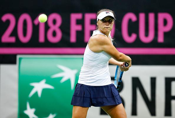 Sofia Kenin fought back to take the match into a deciding set | Photo: Srdjan Stevanovic / Getty Images