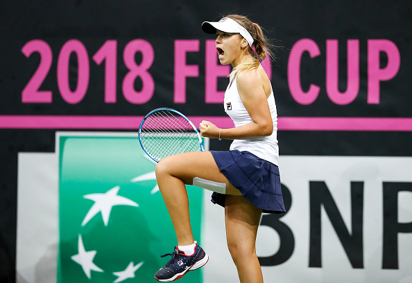 Sofia Kenin never once gave up amidst the scoreline which obviously did not go her way | Photo: Srdjan Stevanovic / Getty Images