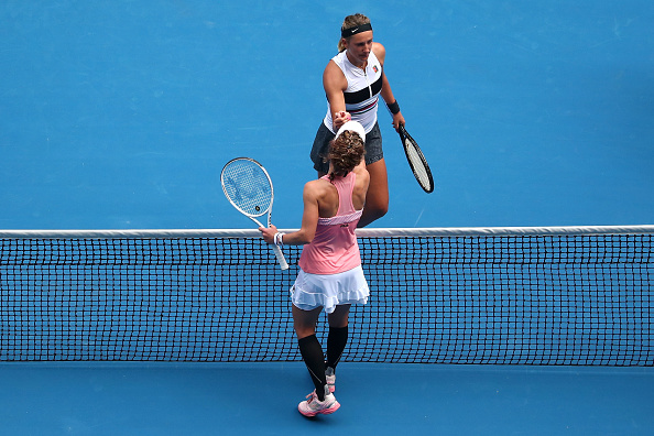 Azarenka fell to Laura Siegemund in the opening round in Melbourne in 2019 (Image: Scott Barbour)