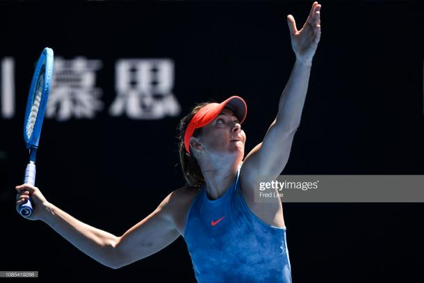 Sharapova, pictured here at the Australian Open, has barely played in 2019 (Getty Images/Fred Lee)