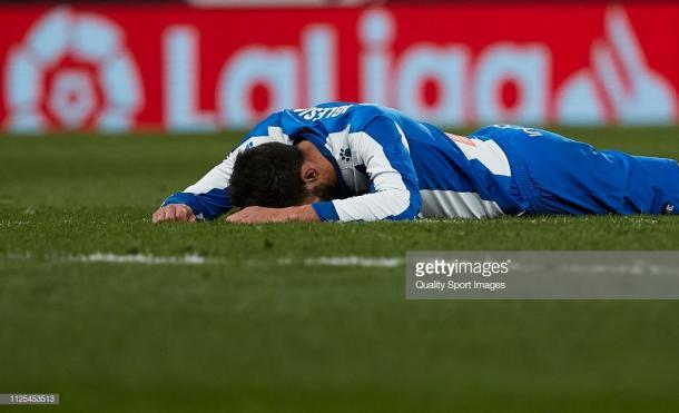 la desazón de los jugadores del Espanyol. Fotos: getty images.