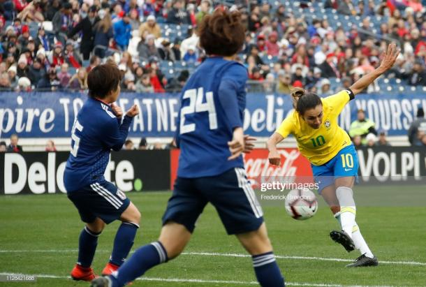 Marta tries to put her team on top | Source: Getty Images