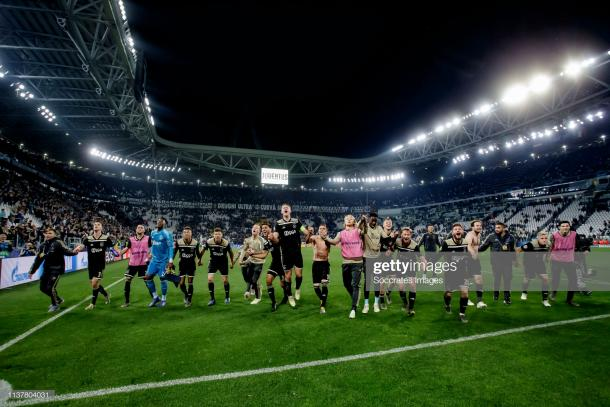 Ajax celebra en Turin / Foto: Getty images
