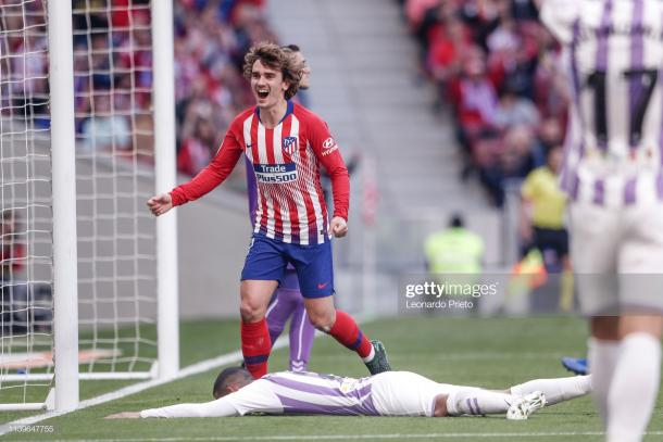 Griezmann celebra un tanto con el Atleti de Madrid / Foto: Getty Images
