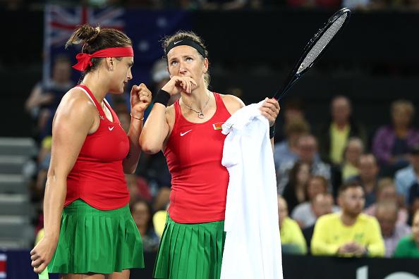 Sabalenka and Azarenka are Fed Cup teammates (Image: Chris Hyde)