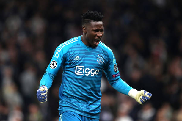 Ajax keeper Andre Onana is wanted by a lot of Arsenal fans (Photo by Julian Finney via Getty Images)