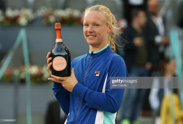 Bertens won the biggest title of her career in Madrid (Getty)