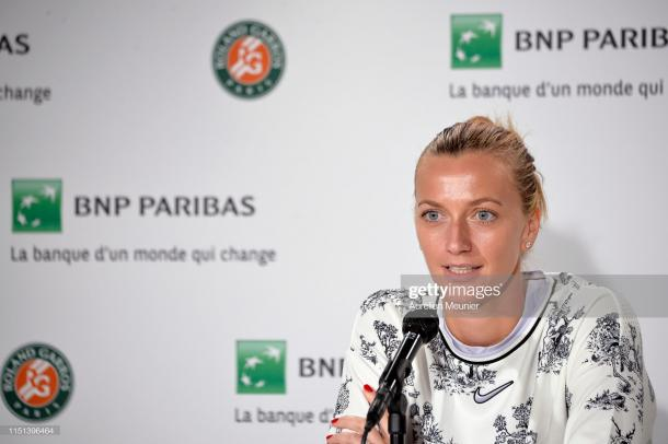 Kvitova withdrew shortly before her scheduled first round match (Getty Images/Aurelien Meunier)