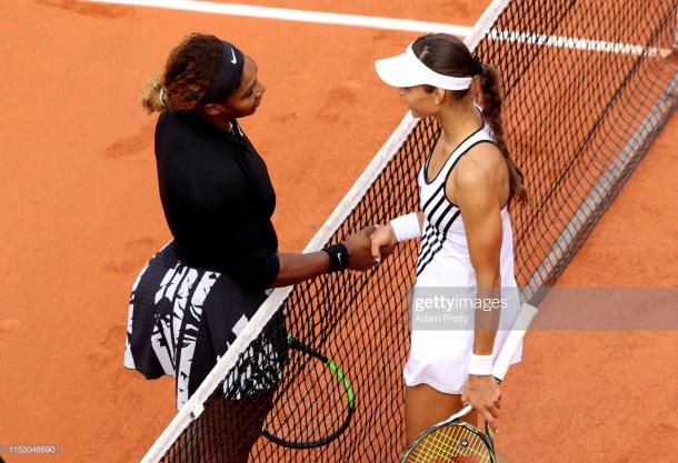 Williams and Diatchenko following the conclusion of their first round encounter (Getty Images/Adam Pretty)