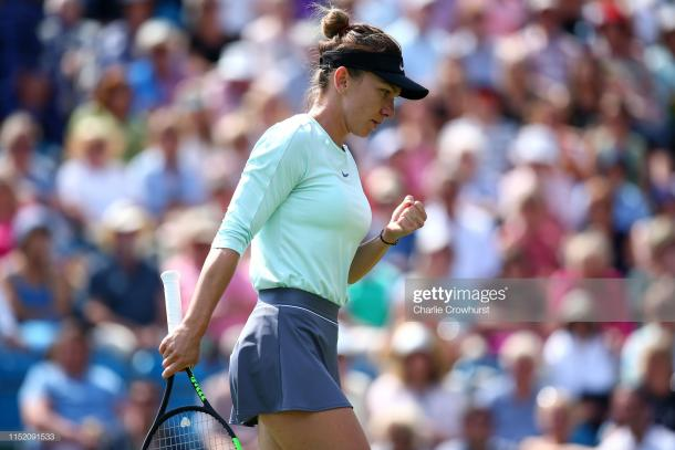 Halep in action yesterday (Getty Images/Charlie Crowhurst)