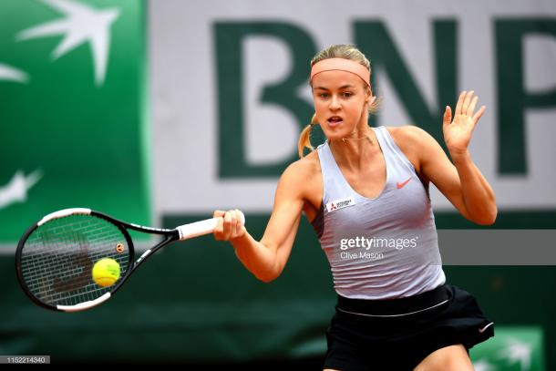 Schmiedlova came agonizingly close to causing the upset of the tournament (Getty Images/Clive Mason)