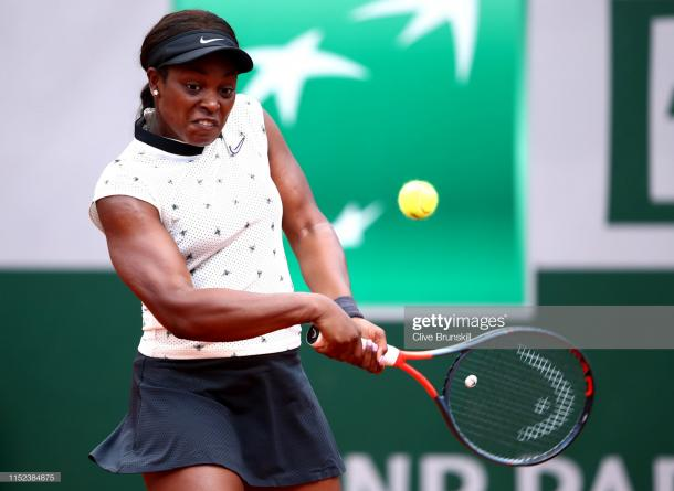Stephens managed to win in two sets after a tricky second set (Getty Images/Clive Brunskill)