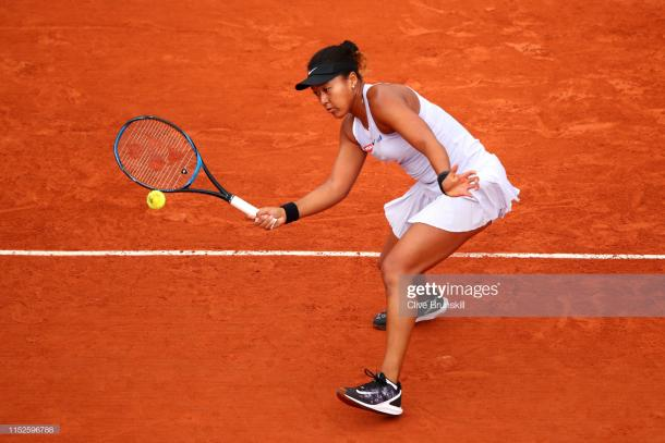 Osaka fought hard to reach the third round of the French Open (Getty Images/Clive Brunskill)