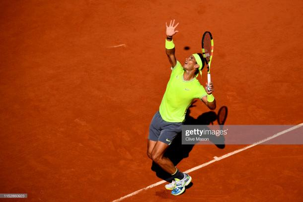 Nadal in action (Getty Images/Clive Mason)