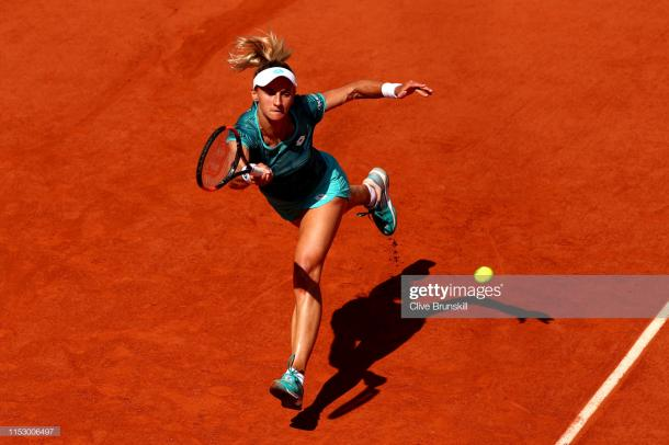 Tsurenko struggled physically against the world number three (Getty Images/Clive Brunskill)