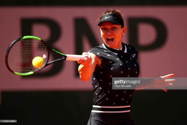 Halep dropped just three games as she reached the fourth round (Getty Images/Clive Brunskill)