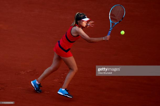 Kenin employed drop shots and angles as part of her winning strategy/Photo: Clive Brunskill/Getty Images
