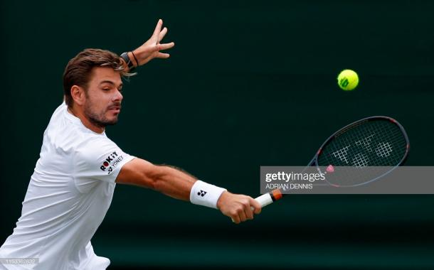 Wawrinka took advantage of the slight chances he had to level the match/Photo: Adrian Dennis/AFP/Getty Images